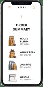 coffee subscription demo order summary