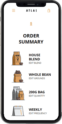 coffee subscription demo order summary